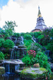 Waterfall in garden Royalty Free Stock Photo