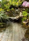Waterfall in garden design. Stock Images
