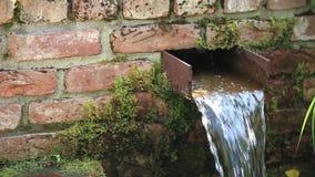Waterfall in Garden stock video footage