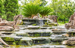 Waterfall in the garden Royalty Free Stock Photography