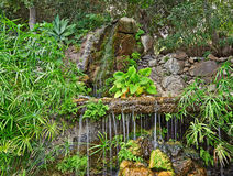 Waterfall and Garden Royalty Free Stock Photo