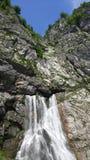 Waterfall gega in Abkhazia in mountains stock photo