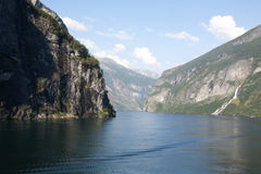 Waterfall in Geirangerfjord Norway Royalty Free Stock Photo