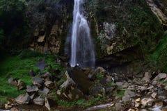 Waterfall genting. Genting potential Curug waterfall in the village Giritirta, District Pejawaran, Banjarnegara, Central Java, Indonesia, is very beautiful with Royalty Free Stock Images