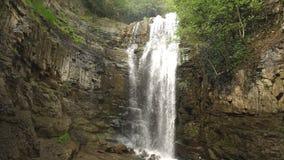 Waterfall in Georgia. Beautiful views of waterfall,waterfall in forest,nature Georgia stock video footage
