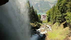 Waterfall Giessbach, Bernese Oberland, Switzerland stock footage