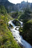Waterfall in the Gifford Pinchot Wilderness. The Gifford Pinchot Wilderness offers a truly breathtaking high alpine experience in washington along the pacific Royalty Free Stock Photography