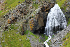 Waterfall Girlish Braids between the mountains of Northern Cauca Stock Image
