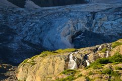 Waterfall and glacier Stock Photography