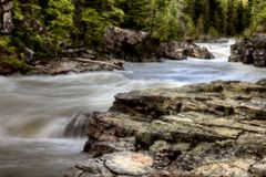 Waterfall Glacier National Park Stock Images
