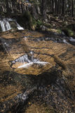 Waterfall at Glen Feshie in the highlands of Scotland. Waterfall at Glen Feshie in the Cairngorms National Park Royalty Free Stock Images