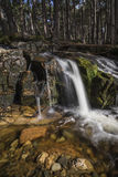 Waterfall at Glen Feshie in the highlands of Scotland. Waterfall at Glen Feshie in the Cairngorms National Park in Scotland stock images