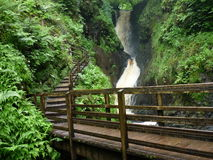 Waterfall in Glenariff, Northern Ireland. One of a few beautiful waterfalls in Glenariff, Antrim, Northern Ireland stock image