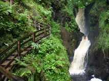 Waterfall in Glenariff, Northern Ireland Stock Image