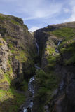 Waterfall Glymur in Iceland Stock Photo