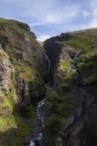 Waterfall Glymur in Iceland Stock Photo