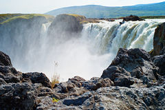 Waterfall Godafoss, Iceland. Royalty Free Stock Photos