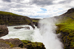 Waterfall in the Golden circle of Iceland Royalty Free Stock Image
