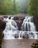 Waterfall on Gooseberry River. Gooseberry Falls, a waterfall on Gooseberry River by the North Shore of Lake Superior, Minnesota, USA Stock Image