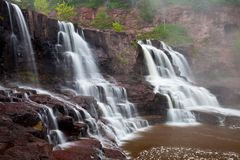 Waterfall on Gooseberry River. Gooseberry Falls, a waterfall on Gooseberry River by the North Shore of Lake Superior, Minnesota, USA Royalty Free Stock Photos
