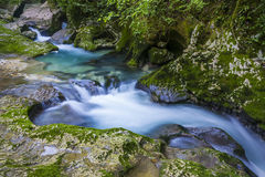 Waterfall in the gorge Chernigovka Stock Photography