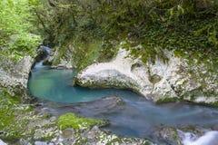 Waterfall in the gorge Chernigovka Royalty Free Stock Photo