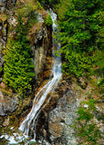 Waterfall, Gorge Creek, North Cascades, Washington. Silky waterfall that flows into Gorge Creek alongside the trail to Gorge Dam @ North Cascades National Park Stock Image