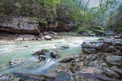 Waterfall in Gorge Guam Stock Photo