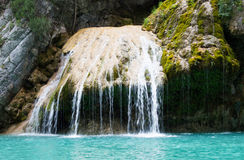 Waterfall in the gorge of the Verdon. Wonderful landscape with a waterfall in the gorge of the Verdon Stock Image