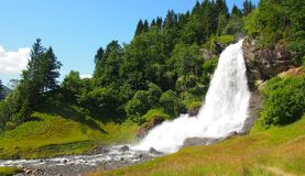 Norway waterfall Royalty Free Stock Images