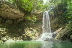 Waterfall in Gozalandia. Puerto Rico stock photos