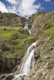 Waterfall in the Gran Paradiso area Royalty Free Stock Images