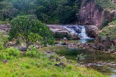 Waterfall in Gran Sabana. Region in National Park Canaima, Venezuela royalty free stock images