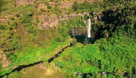 Waterfall of Grand Bassin la Réunion royalty free stock photography