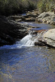 Waterfall at Graveyard Fields in NC Stock Images