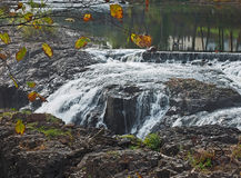 Waterfall in Great Falls Park in Paterson, NJ Royalty Free Stock Images