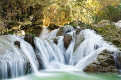 Waterfall in Greece Royalty Free Stock Photography