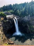 Snowqualmie Falls, Wa royalty free stock images