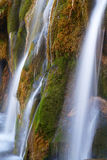 Waterfall with green moss Royalty Free Stock Image
