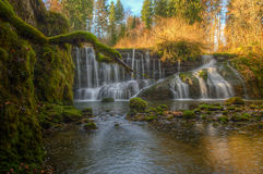 Waterfall in green Royalty Free Stock Photo