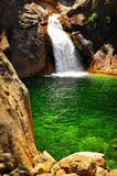 Waterfall with green water in King\'s Canyon Royalty Free Stock Photography