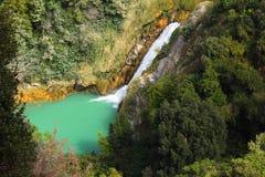 Waterfall in Gregorian Villa, Tivoli. Tivoli is a small town not far from Rome Stock Photography