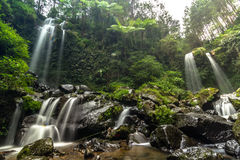 Waterfall. Grejegan kembar waterfall Royalty Free Stock Image