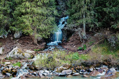 Waterfall in Grigorevsky gorge Royalty Free Stock Images