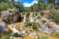 Waterfall on the Guazalamanco  River Stock Images