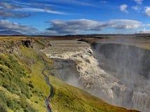 Waterfall Gullfoss, Iceland. Famous waterfall Gulfoss in Iceland Stock Photo