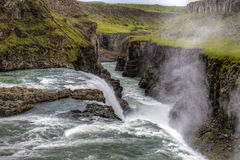 Waterfall Gulfoss. The picture shows Gulfoss, one oft he biggest waterfalls in Iceland Royalty Free Stock Images