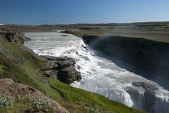 Waterfall Gullfoss. Iceland´s most famous waterfall Gullfoss Stock Photo