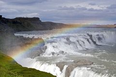Waterfall Gullfoss Royalty Free Stock Photo