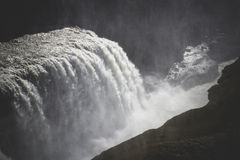 Waterfall Gullfoss and canyon, Iceland Stock Images